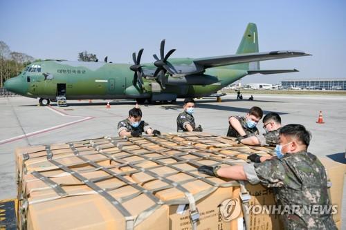 韩国军机满载防疫物资从缅甸返回