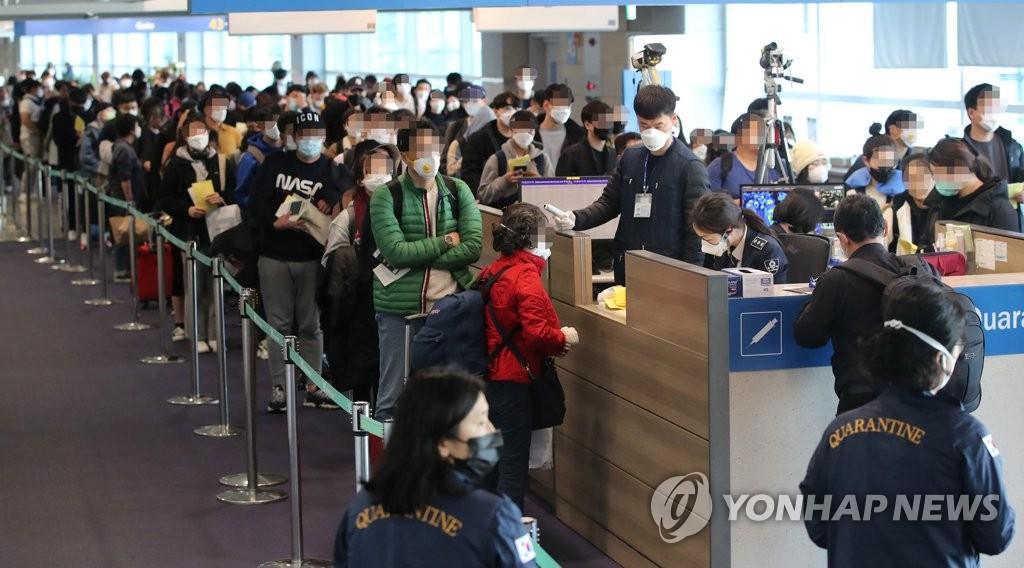 韩国将对所有自欧入境者进行新冠病毒检测