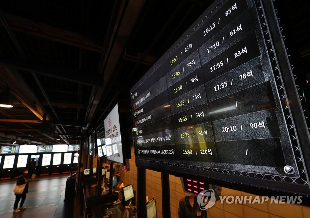 韩国票房:周末观影人数跌破12万人