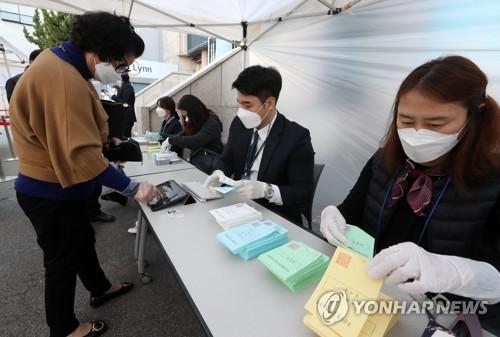 韩国国会议员选举在即 政府加强投票站防疫