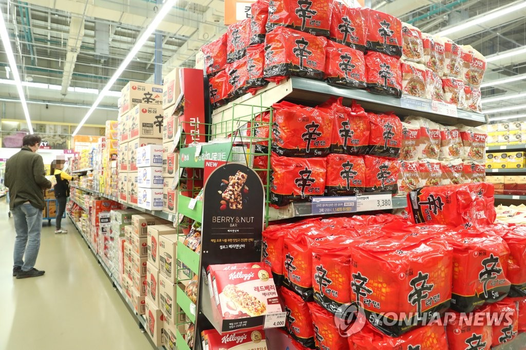 韩国第三季方便面和泡菜出口双双大增