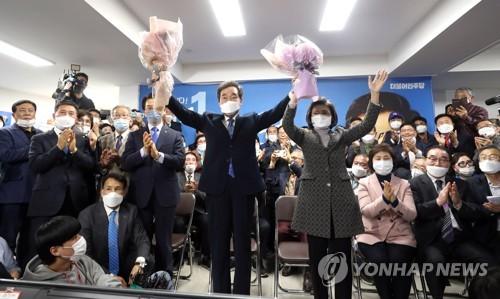 韩国会议员选举计票近四成 民主党过半在望