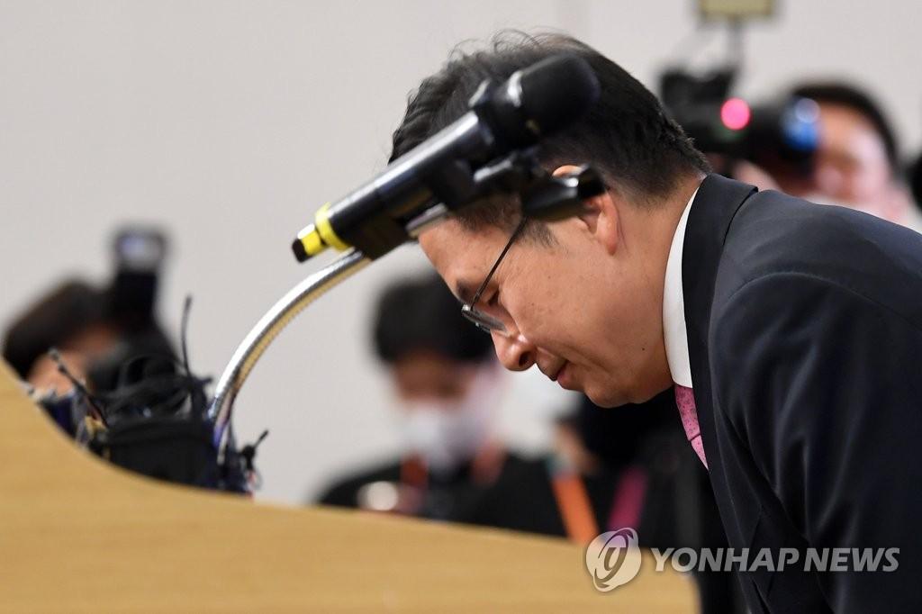 资料图片:4月15日,黄教安辞去党首职务。 韩联社