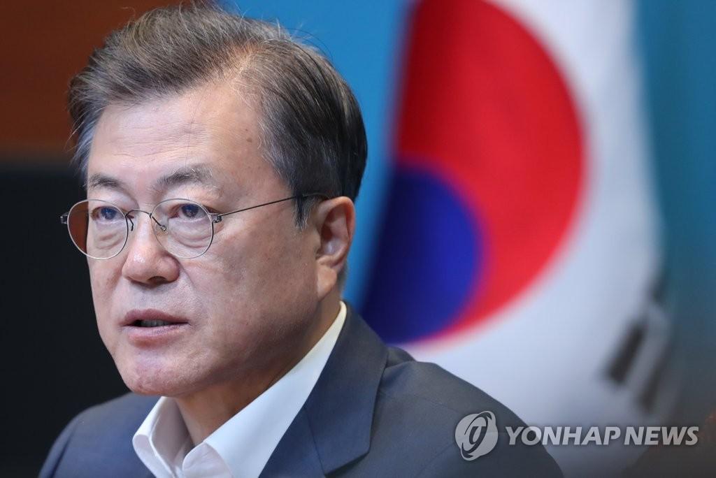 文在寅表示新冠危机或成韩朝合作新机遇