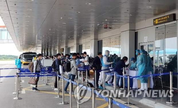韩政府明派包机向中越输送韩企人员