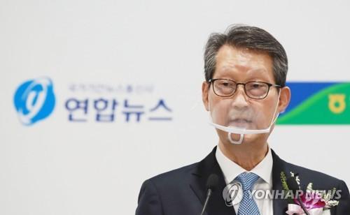 韩联社社长赵成富致词