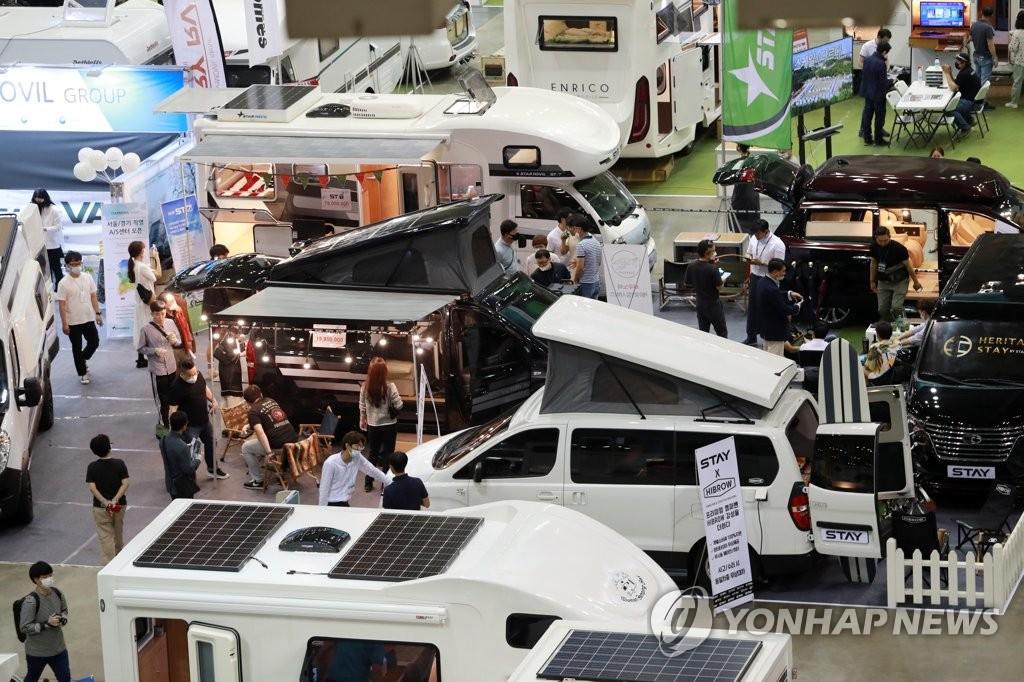 资料图片:露营车 韩联社
