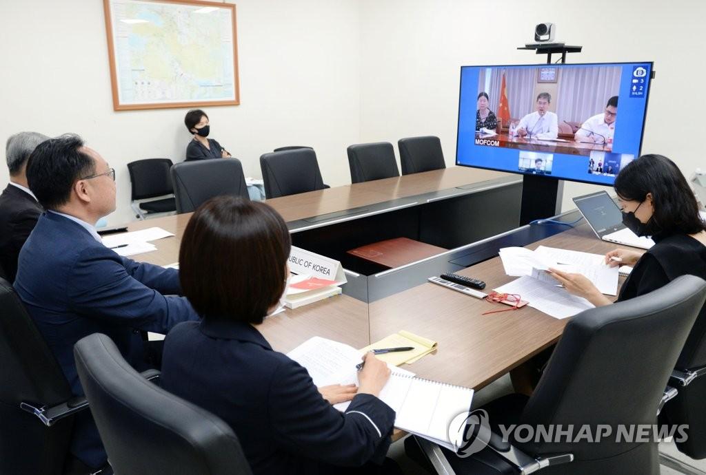 韩中自贸协定第八轮服务投资后续谈判今在线举行