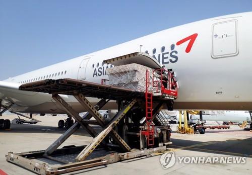 韩安排包机赴日德解决企业物流难题