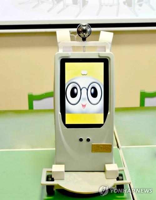 朝鲜研制教学机器人