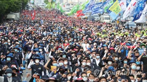 首尔今有多场大型集会 防疫形势堪忧