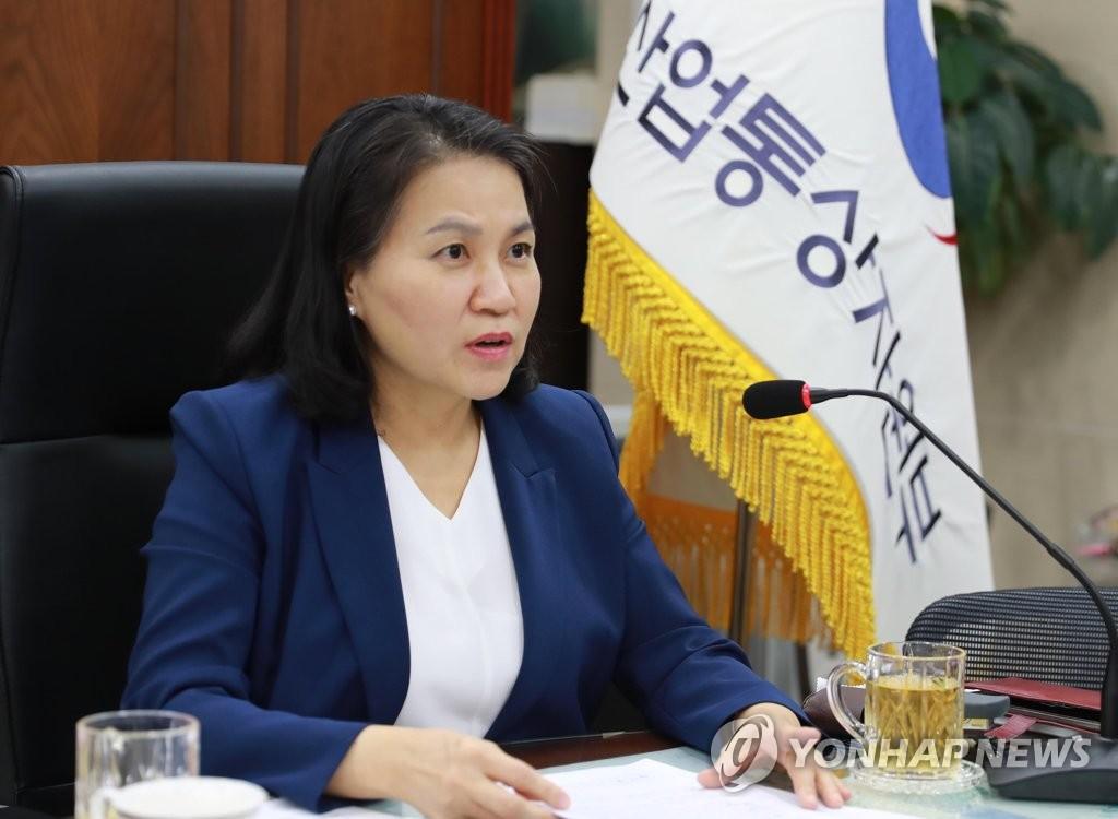资料图片:韩国产业通商资源部通商交涉本部长俞明希 韩联社