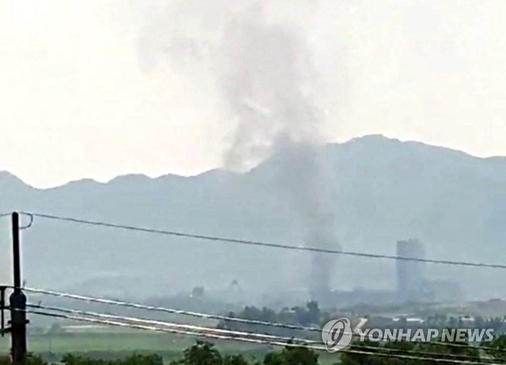 韩青瓦台召开国安会全会讨论朝鲜爆破韩朝联办