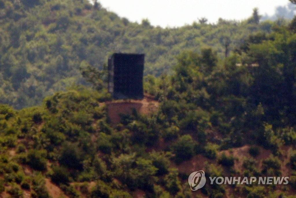 韩统一部对朝方重装边境扩音器表遗憾