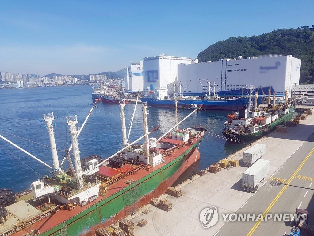 韩釜山一港口冷藏海鲜卸船因疫情暂停至25日