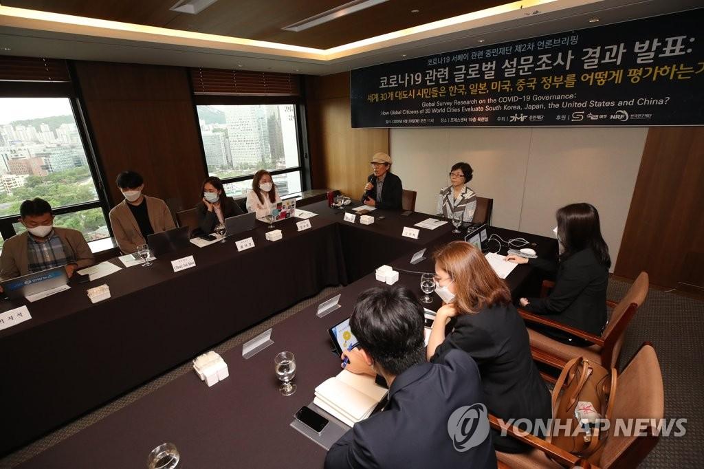 调查:全球高度评价韩国政府抗疫能力