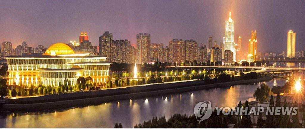 朝鲜平壤夜景