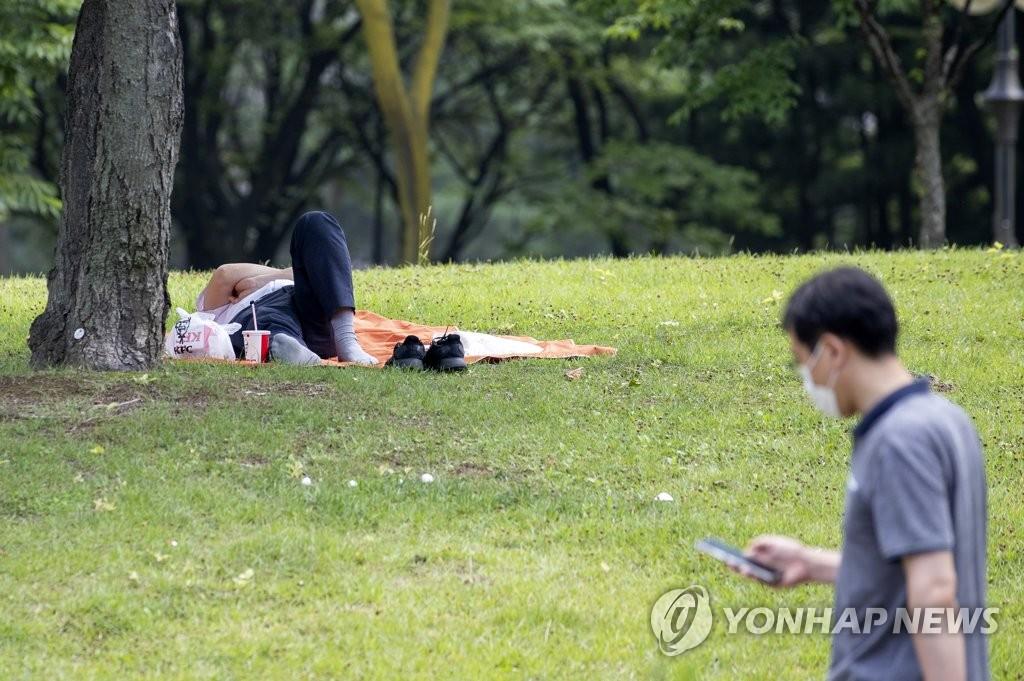 资料图片:树下乘凉 韩联社