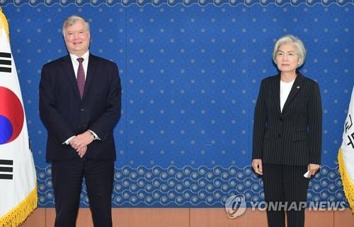 韩外长康京和会见美副国务卿比根