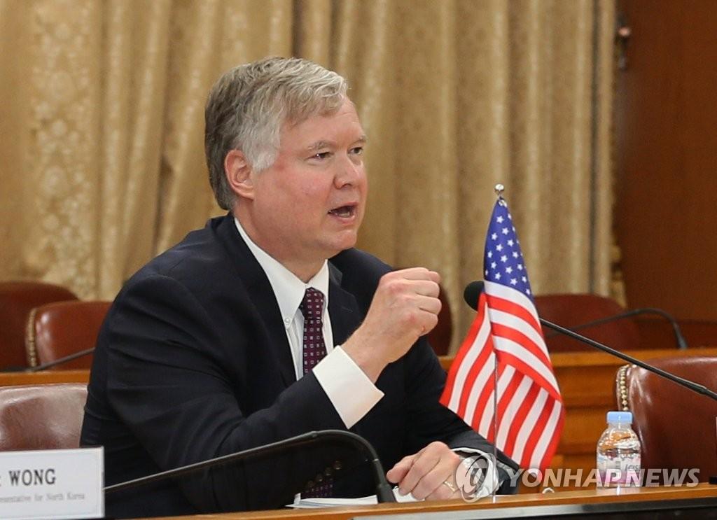 资料图片:美国常务副国务卿兼对朝特别代表斯蒂芬·比根 韩联社