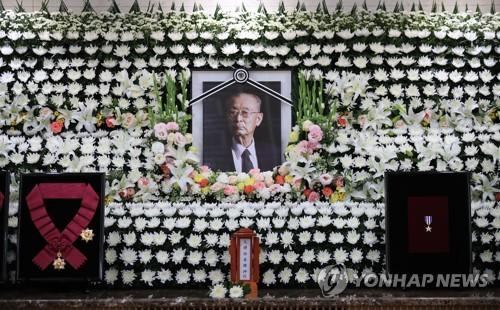 悼念韩战英雄白善烨