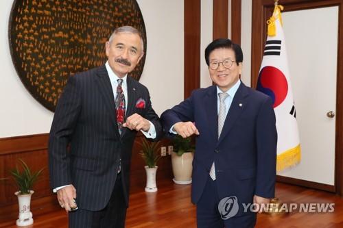 韩国国会议长会见美国大使