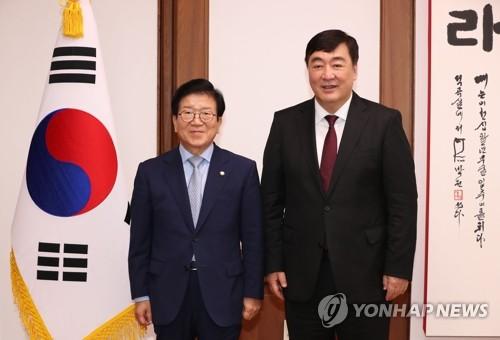 韩国会议长会见中国大使