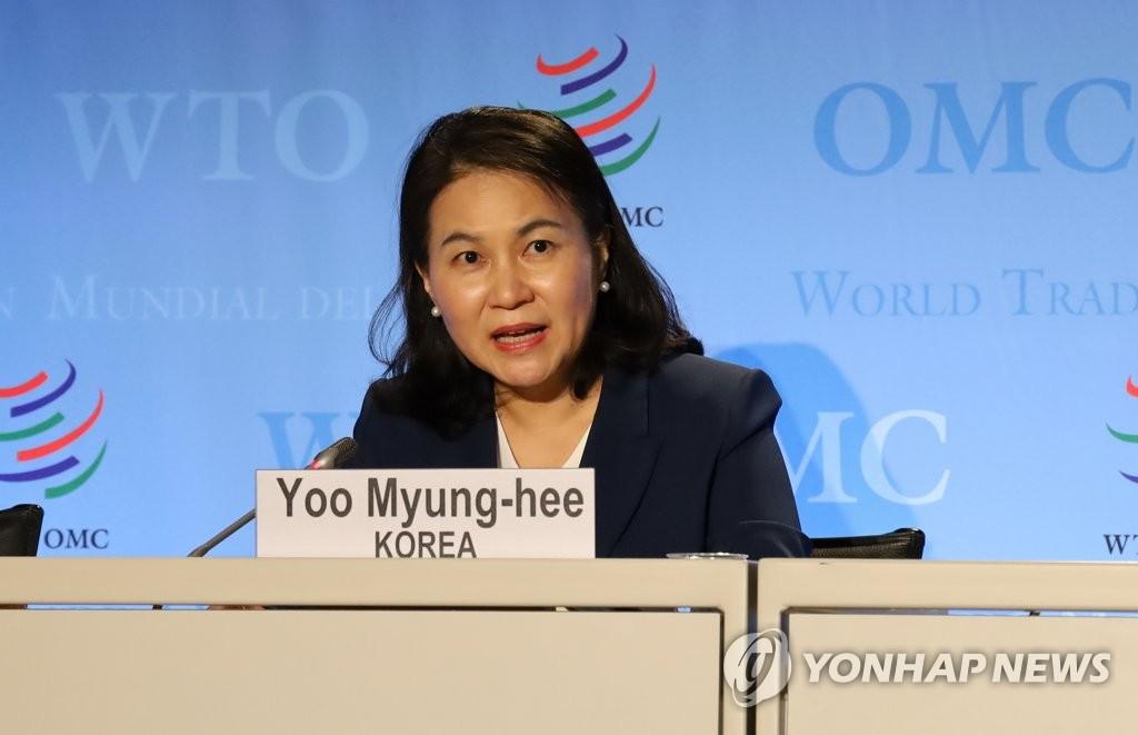 韩世贸组织总干事候选人:继续争取日方支持