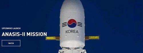 """韩首颗军事通信卫星""""Anasis-II""""号被送入太空"""