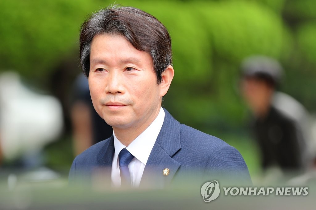资料图片:韩国统一部长官被提名人李仁荣 韩联社