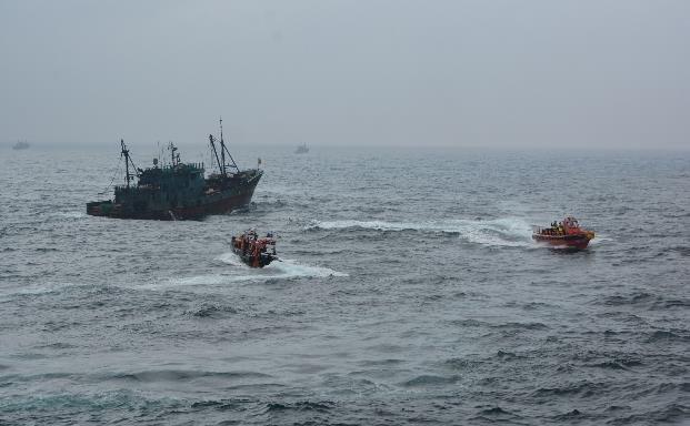 报告:近三年在韩非法捕捞中国渔船减半