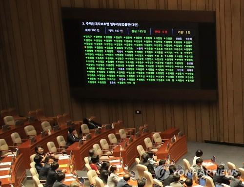 韩国国会通过两项涉租房法案