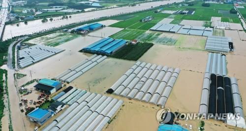 韩国中部地区遭暴雨袭击致6人死亡8人失踪