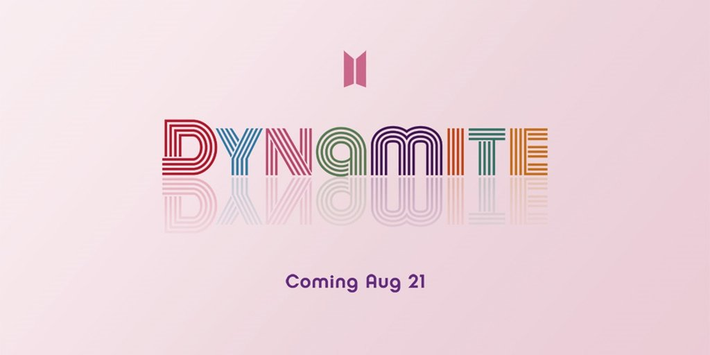资料图片:防弹少年团英文新歌《Dynamite》预告图 Big Hit娱乐供图 (图片严禁转载复制)