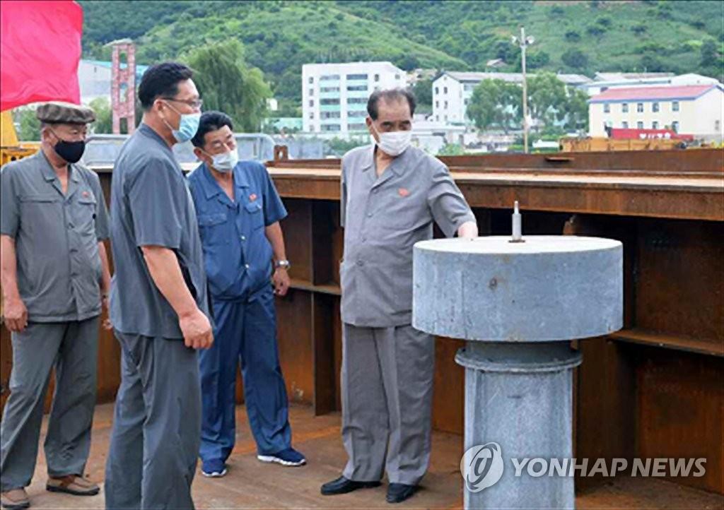 朝鲜高官检查防疫工作