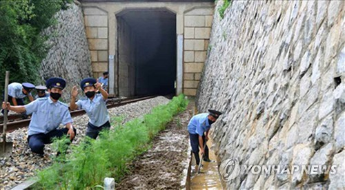 朝鲜检查铁路提前防洪
