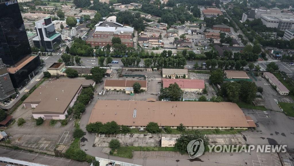 资料图片:位于首尔市龙山区的驻韩美军基地 韩联社
