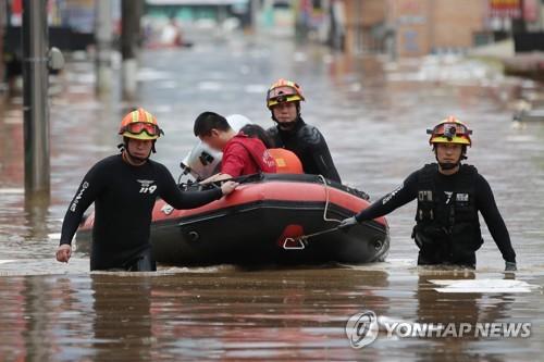 韩国今年遇9年来最严重水灾
