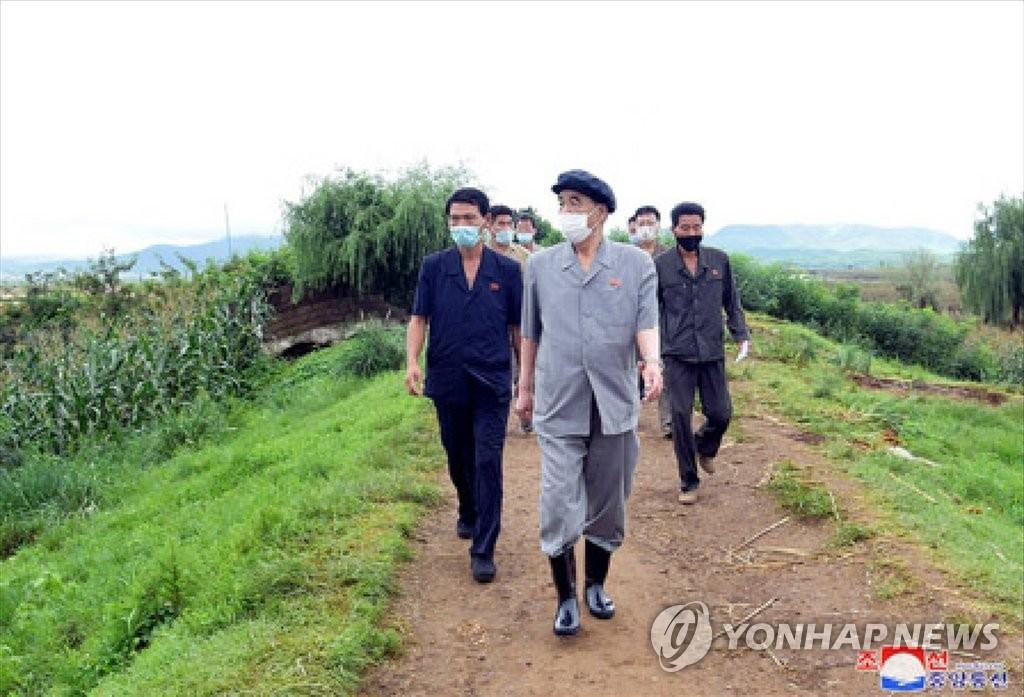 朝鲜高官视察灾区