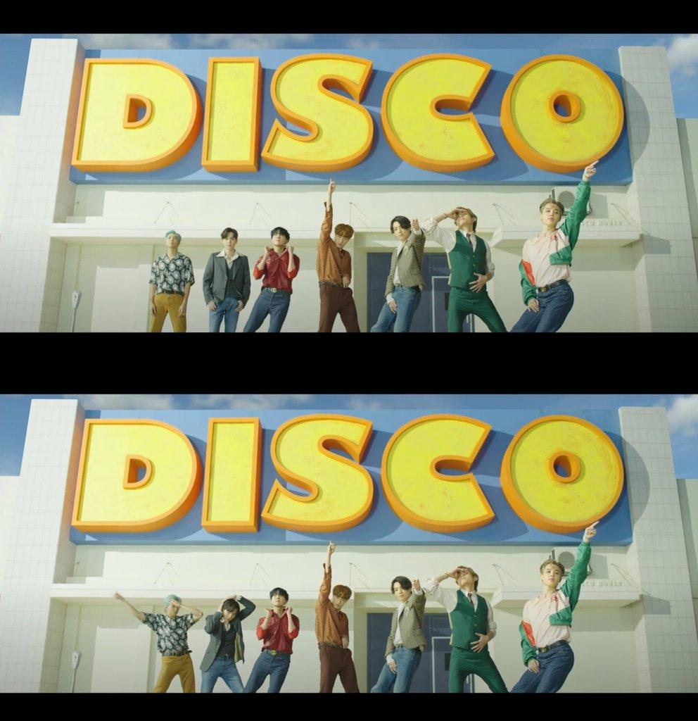 《Dynamite》MV预告片截图 Big Hit娱乐供图(图片严禁转载复制)