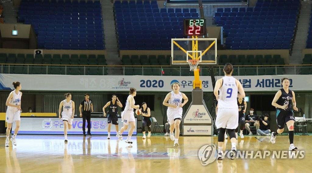 资料图片:女篮决赛零观众。 韩联社
