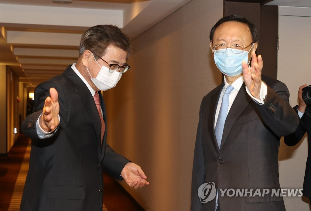 韩国国安首长徐薰会晤中共中央政治局委员杨洁篪