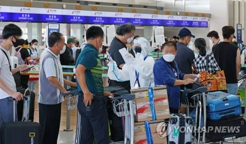 自韩赴华乘客11日起登机前须接受两次核酸检测