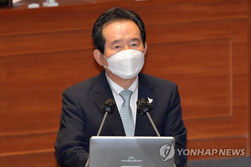 资料图片:韩国国务总理丁世均 韩联社