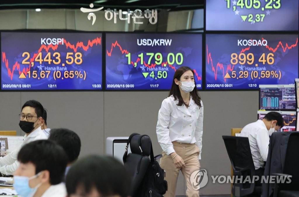 韩国股票总市值再破2000万亿韩元
