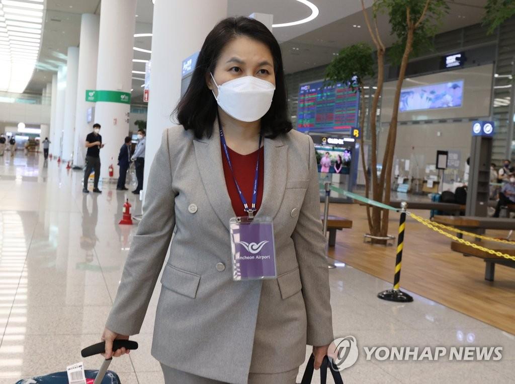 资料图片:韩国候选人俞明希 韩联社