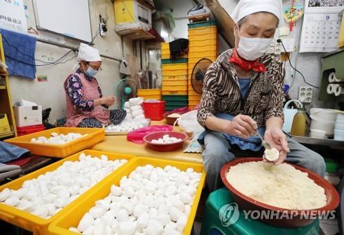中秋节做松糕