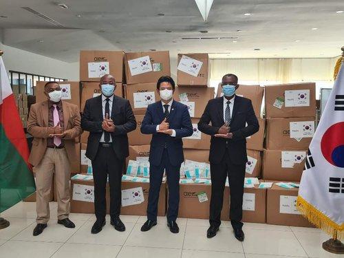 韩国向马达加斯加提供口罩