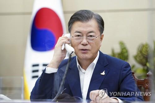 韩俄领导人通电话