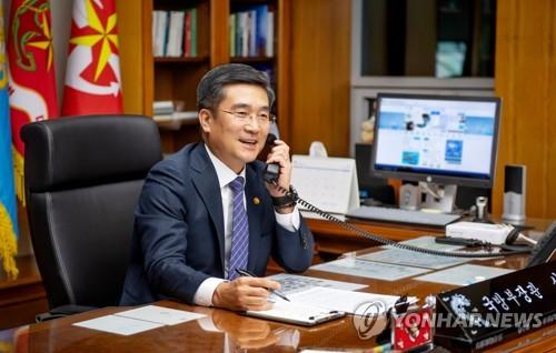 韩中国防部长通电话共谋合作